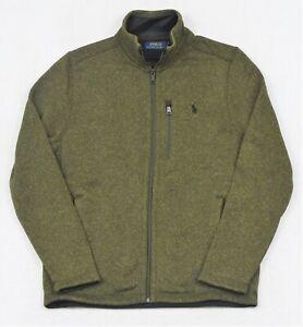 Polo Ralph Lauren Jacket Fleece Mockneck Knit Full-Zip Green Size XL NWT $168