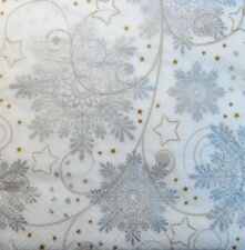 4 x Single Paper Napkins Christmas Silver Stars DECOUPAGE  CRAFT w6