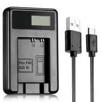 LCD BCG10E USB Charger for Panasonic DMW-BCG10 DMW-BCG10PP BCH7 DMC-ZS7 battery