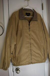 Men's Weatherproof XL Jacket Tan inside and outside pockets
