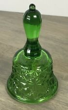 Vintage LG Wright by Sinclair Glass Green Bell DAISY BUTTON Pattern (612)