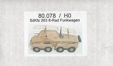SdKfz. 263 Deutscher 8-Rad Funkwagen - 2. Weltkrieg - Resinbausatz 1:87/H0