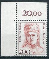 Bund 1498 postfrisch Eckrandstück Ecke 1 ungefaltet  BRD Frauen MNH
