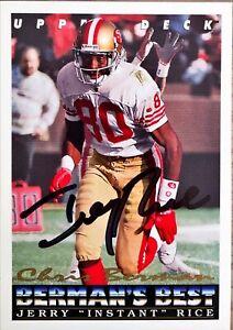 1993 Upper Deck Berman's Best #433 Jerry Rice Autograph 49ers NFL