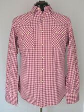 Polo Ralph Lauren Authentic Western Pearl Snap Shirt Pink Men's Large Sawtooth