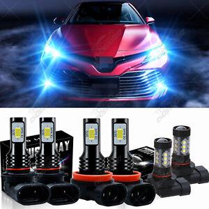 Car Led Lights For Toyota Camry 2007-2018 LED Headlight Ice Blue 8000K Bulbs Kit