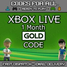 Xbox Live 1 Month Gold Membership Xbox One Xbox 360  - Instant Dispatch