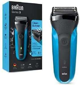 Braun Series 3 310 Rasoio Elettrico Uomo, Wet  Dry con 3 Lame Flessibili, Ricar