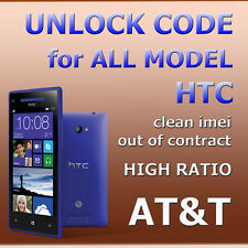 AT&T AT USA Unlock Code ALL HTC One Desire 8X Inspire M9 M8 M7 Clean Imei