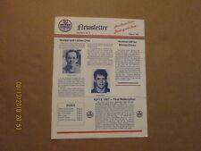 Ahl Nova Scotia Oilers Vintage Defunct March 1987 Volume 3,No.5 Team Newsletter