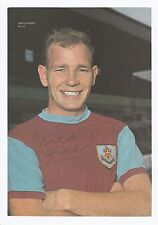 ANDY LOCHHEAD BURNLEY 1960-1969 ORIGINAL HAND SIGNED ANNUAL PICTURE CUTTING