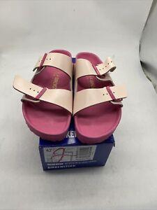 Wms Birkenstock Arizona Icy Metallic Old Rose Leather Sandals Size 42/11 Cy207