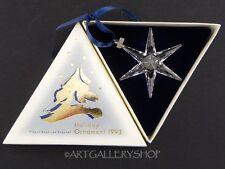 Swarovski Austria Crystal 1993 ANNUAL STAR CHRISTMAS ORNAMENT SNOWFLAKE Box