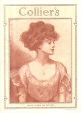 """""""Gibson Girl"""" cover illustration for """"Collier's Weekly"""" (1909)"""