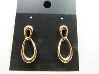 Beautiful Vintage MONET Gold Tone Dangle Pierced Earrings