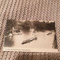 Near Old Windsor Lock, Wraysbury - Vintage Real Photo Postcard