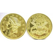 DOUBLE EAGLE GOLD $20 DOLLAR JUMBO COIN PAPERWEIGHT NEW