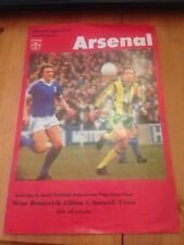 WEST BROMWICH ALBION V IPSWICH TOWN FA CUP SEMI FINAL PROGRAMME 8th APRIL 1978