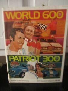 VINTAGE 1976 WORLD 600 PATRIOT 300 RACING PROGRAM CHARLOTTE MOTOR SPEEDWAY