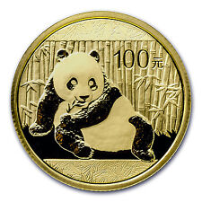 2015 China 1/4 oz Gold Panda BU (Sealed) - SKU #84909