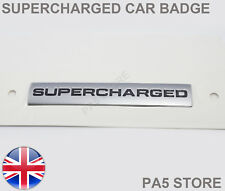 Supercharged Silver Badge - LAND RANGE ROVER SPORT VOGUE DISCOVERY FREELANDER UK