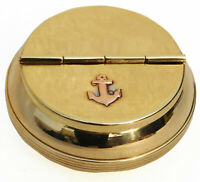Brass Ashtray Cigarette Ash Holder with Lid Used for Smokers, Indoor Outdoor