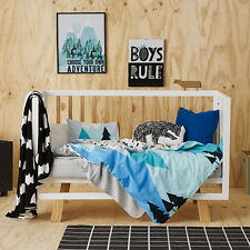 Adairs Kids Summer Hike Cot Quilt Cover Set -