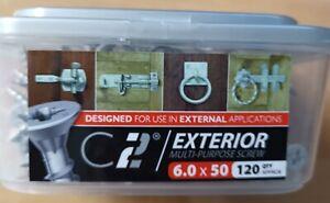 TIMCO C2 EXTERIOR MULTI-PURPOSE SCREWS - 6.0 x 50