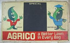 Old Orig AGRICO Feed Seed Store SIGN Better Lawn with Professor Lawn & Gayblade