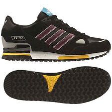 ADIDAS ZX 750 scarpe originali per il tempo libero Scarpe da ginnastica sneacker Nero Rosso Nuovo