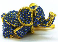 Diamond Elephant Pendant Gold Keychain Backpack Accessory Animal Keyring Gift
