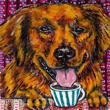 chesapeak bay retriever dog art tile COASTER gift JSCHMETZ modern folk coffee