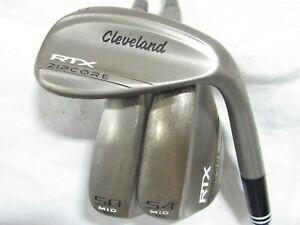 Used RH Cleveland RTX ZipCore 50* 54* 60* Wedge Set - Wedge Flex Steel