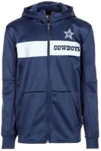 Dallas Cowboys Nike Youth Boys Sideline Full Zip Hoody Sweatshirt - Navy