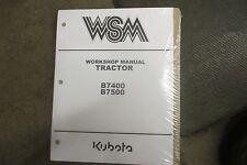 Kubota B7400 B7500 B 7400 7500 tractor service & repair manual