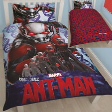 Marvel AntMan Atom Single Panel Duvet Cover Bed Set New Gift Avengers Hank Pym