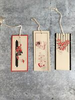 Lot 3 Vintage Die Cut Bridge Game Tally Place Cards Valentine Cupid hearts red