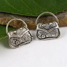 12pcs tibetan silver color handbag design charms h1522