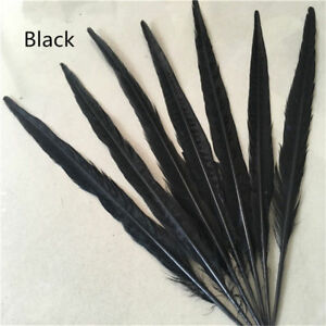 Hot selling 10-100 Pcs 25-30 cm / 10-12 inch natural pheasant tail feathers