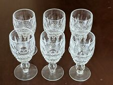 Waterford Crystal COLLEEN Short stem Sherry Liquer Cordial Glass Set of SIX