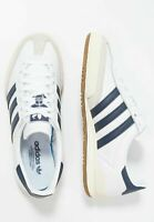 Adidas Originals Jeans Mens White Navy Brown Gum Mens Shoe Sport Trainers 7 - 13