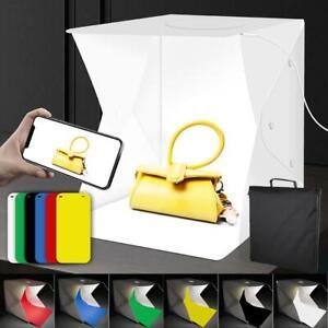 40cm Portable Photo Studio Light Box Photography Backdrop LED Light Tent Bag UK