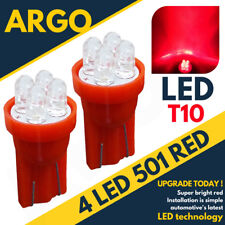 4 LED XENON RED QUAD 501 T10 W5W SIDELIGHT BULBS FORD FIESTA HATCHBACK ST ZETEC
