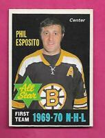 1970-71 OPC # 237 BRUINS PHIL  ESPOSITO AS EX-MT  CARD (INV# D1174)