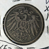 1899-D Germany 1 Mark Silver Coin VF/XF Condition