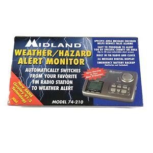 Midland Weather/Hazard Alert Monitor 74-210 with SAME & FM Radio