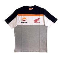Repsol Honda Mens Orange Tape T-Shirt | Grey | 2019
