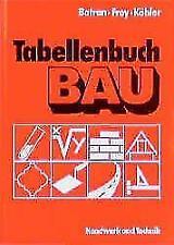 Tabellenbuch Bau von Klaus Köhler, Balder Batran und Volker Frey (2017, Taschenbuch)