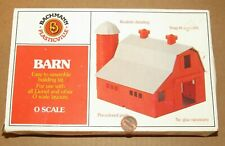 O scale Barn Kit for Model Train Layouts & Displays by Bachmann / Plasticville