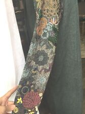 Dries Van Noten Fabulous Beaded Long Linen Coat   L